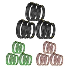 9 Rolls Bonsai Wires Anodized Aluminum Bonsai Training Wire with 3 Sizes (1.0 Mm,1.5 Mm,2.0 Mm),Total 147 Feet(China)