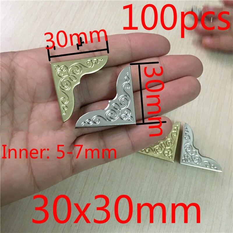 Yellow Metal Book Corner Protectors Albums Menus Notebook Folder File Corner Protectors 100 Pcs