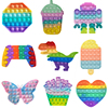 Pineapple Rainbow Popite Anti Stress For Kids Fidget Toy Bubble Push Stress Reliever Toys Squishy Sensory Relax Squeeze Toys