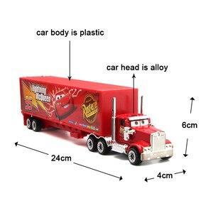 Image 3 - 7Pcs/set Disney Pixar Cars 3 Lightning McQueen Jackson Storm Cruz Mater Mack Uncle Truck 1:55 Diecast Metal Car Model Boy Toy
