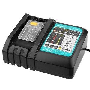 Image 4 - Cargador de batería Li Ion 3A corriente de carga para Makita 14,4 V 18V Bl1830 Bl1430 Dc18Rc Dc18Ra herramienta eléctrica Dc18Rct enchufe de carga Eu