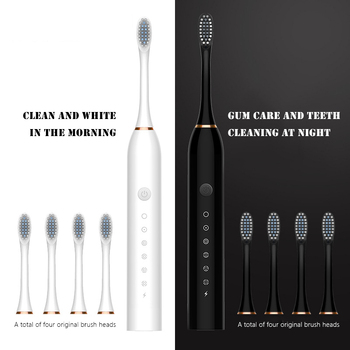 Acoustic Wave Electric Toothbrush Sonic Tooth Brush Ultrasonic Teeth Whitening Teethbrush Children's & Adults Toothbrushs - discount item  50% OFF Personal Care Appliances