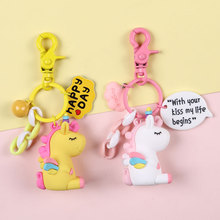 2019 Rainbow PVC Animal Unicorn Keychain for Men Women Bag Ornament Phone Key Chain Porte Clef Girl keyring Bag Decoration шина nokian hakka blue 215 45 r16 90v xl