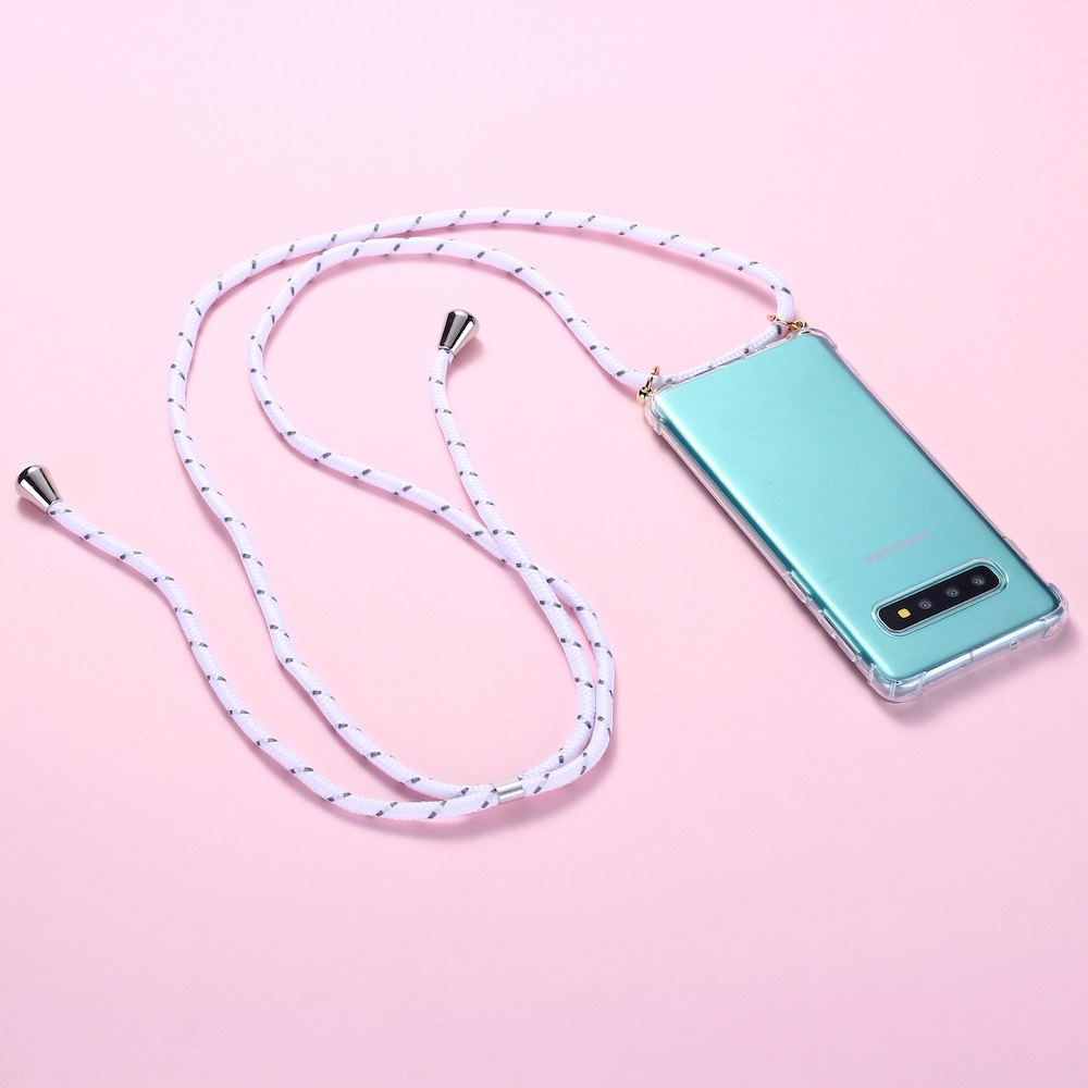 Strap Cord Chain Phone Tape Necklace Lanyard Mobile Phone <font><b>Case</b></font> for Carry to Hang For <font><b>SAMSUNG</b></font> S8 S9 S10 Note9 <font><b>A50</b></font> A70 A7 A8 A9 image
