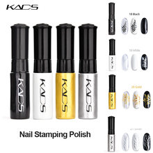 4 pçs/set unha polonês Conjunto Kit Polonês Da Arte Do Prego Selo Polonês Unha Polonês Stamping Ouro Prata Preto Prego Laca Verniz de Impressão