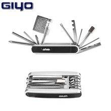 Giyo PT-01 multi-função dobrável ferramentas ferramenta de reparo da bicicleta ferramenta de manutenção profissional conjunto de ferramentas 13 em 1