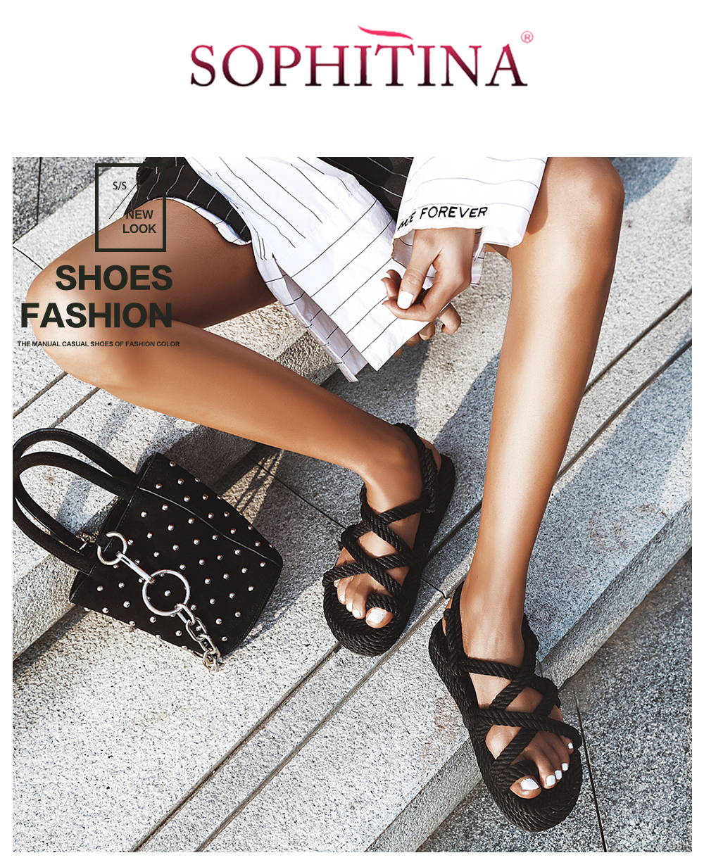 Po448 : po448, SOPHITINA, Fashion, Women', Sandals, Toepost, Design, Strap, Quality, Shoes, Summer, Stylish, PO448|Middle, Heels|, AliExpress