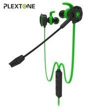 Casque de jeu de basse Plextone G30 avec Microphone détachable téléphone PC écouteur de jeu stéréo pour joueur de champs de bataille de playerinconnu