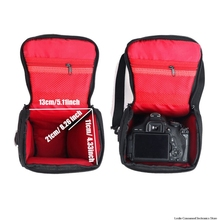 лучшая цена Photo Camera Sling Bag Shoulder Cross Digital Case Waterproof Rain Cover DSLR Soft Men Women Bag for Canon Nikon Sony SLR