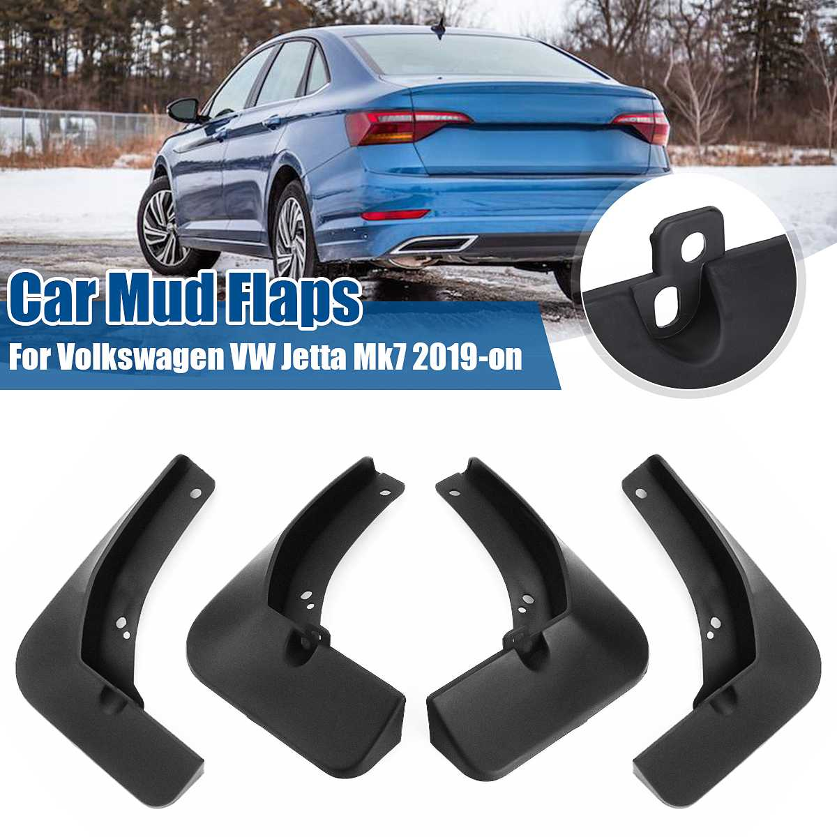 Car Mud Flaps Splash Guards Mudguards <font><b>Mudflaps</b></font> for Fender Mud Flap Car Accessories For <font><b>VW</b></font> Jetta Mk7 2019 2020 image