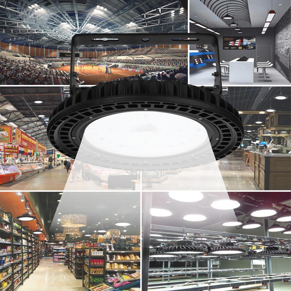 100 Вт НЛО светодиодный высокий свет залива 110 В 220 В водонепроницаемый IP65 коммерческое освещение Промышленный Склад Светодиодный лампа подвесного светильника