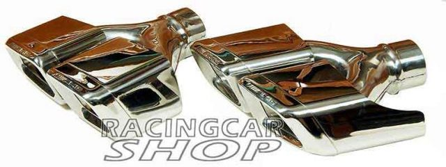 S63 S65 AMG STYLE Dual Exhaust Tips Pipes Fit For Mercedes Benz W212 E350 E500 E550 E63 W221 W166 W204 1PAIR M121W 4