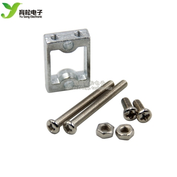 TT Motor Bracket Motor Shelf Aluminum Alloy Smart Car Chassis Wheels Screws Fasteners image