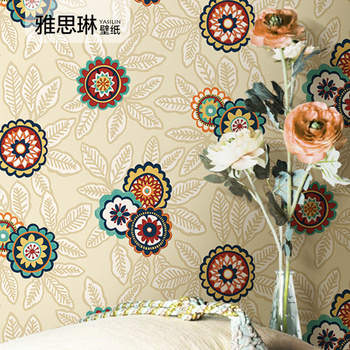 цена на High quality Chinese style wallpaper rural style Chinese style wallpaper living room TV background wall porch bedroom hotel