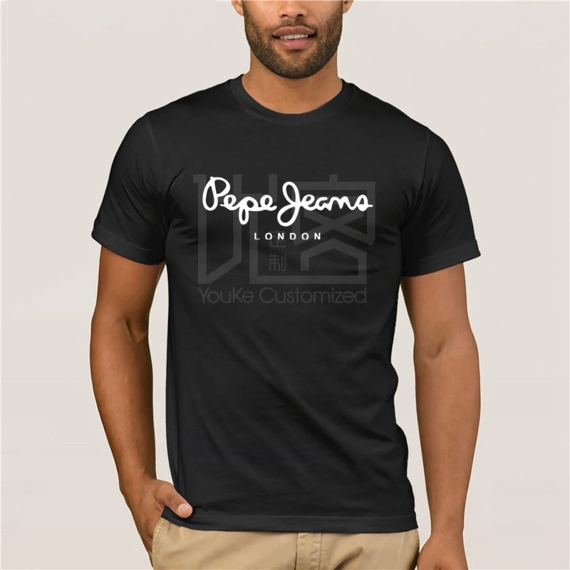Cotton Fashion 2019 Trend T-shirt Hot Fashion Tshirt Mens Pepe Jeans789 Logo London Reguler Size For Mans