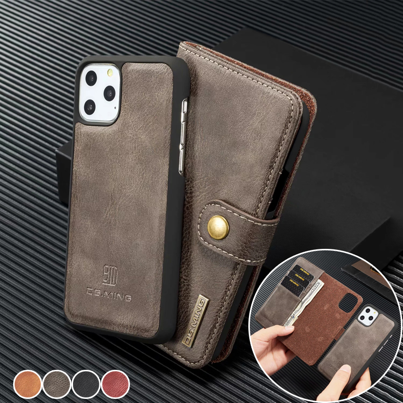 <font><b>Genuine</b></font> <font><b>Leather</b></font> Magnet <font><b>Case</b></font> for <font><b>iPhone</b></font> 8 7 6 6S Plus Wallet Card Holder Cover for <font><b>iPhone</b></font> 11 Pro Max XS XR X 5 <font><b>5S</b></font> SE <font><b>Cases</b></font> Coque image