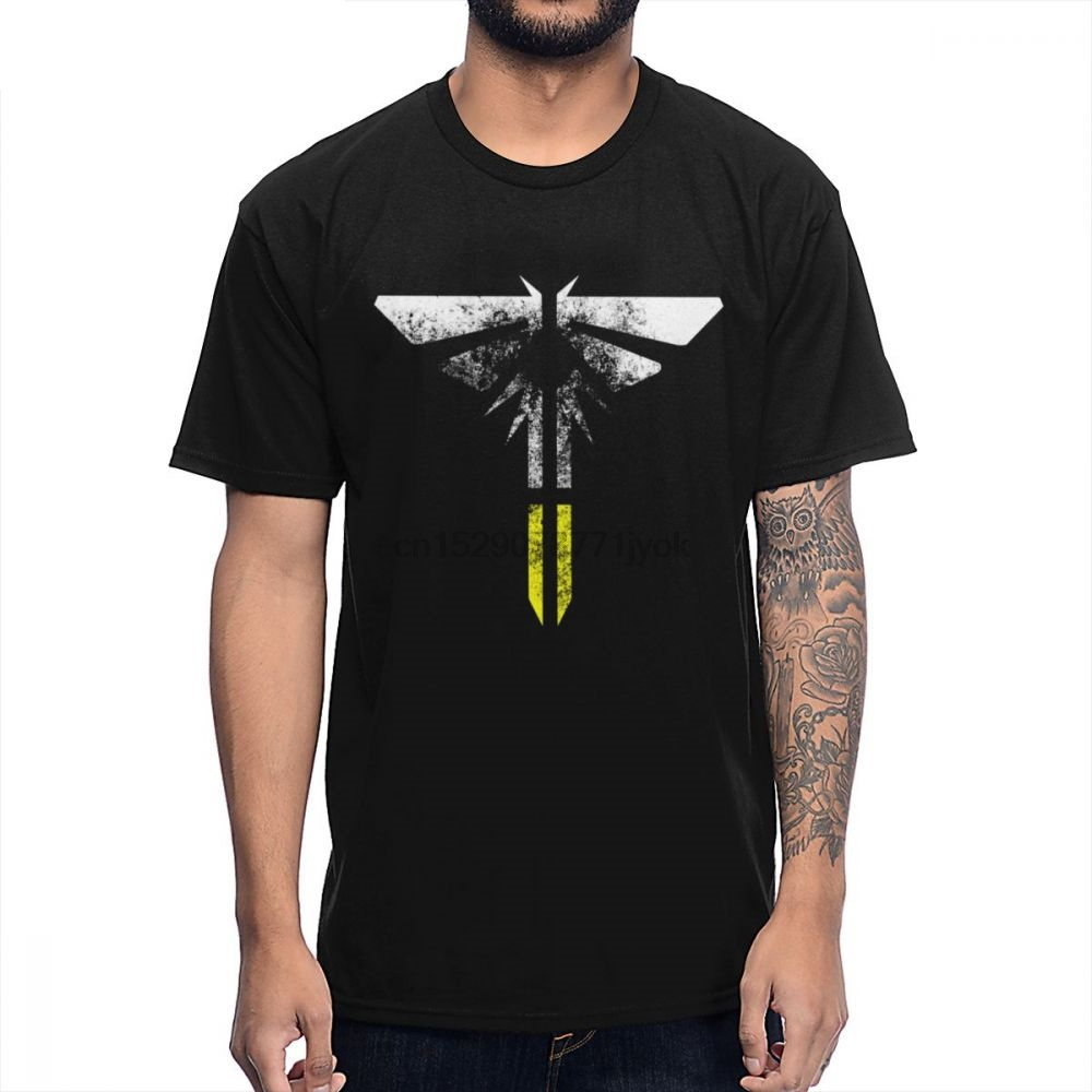 100% Cotton Custom The Last Of Us Part II Firefly Light Eroded T Shirt Men Summer Slim Camiseta Plus Size Top Tee shirt