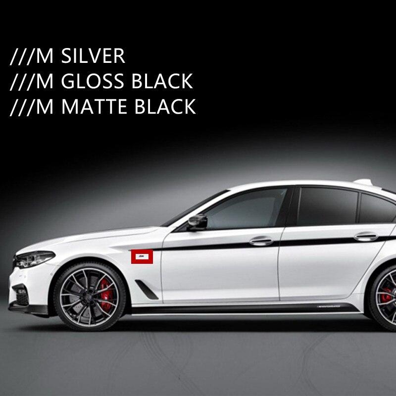 2PCS BMW //////M Powered by Matte silver Fender Metal Emblem Badge Sticker Logo
