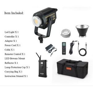 Image 5 - Светодиодная лампа для видеосъемки Godox VL150, 150 Вт, 5600K, белая версия, непрерывный выход, крепление Bowens, студийное освещение, Поддержка приложения