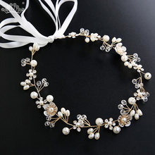 Элегантные свадебные аксессуары для волос с кристаллами и жемчугом