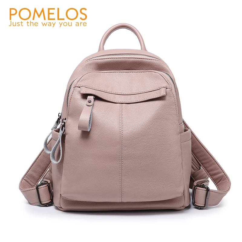 POMELOS Women's Backpacks 2019 New Arrival Soft High Qualit PU Leather Backpack Fashion Schoolbag Casual Backpack For Girls
