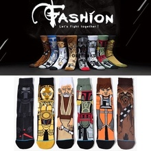 Skateboard star wars socks men Cartoon Motion cotton socks christma gif