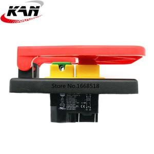 Image 3 - KJD17B 16 4 핀 테이블 톱 전자기 푸시 버튼 스위치 16a ac250v 벤치 드릴/그라인더/선반 용 패들 스위치