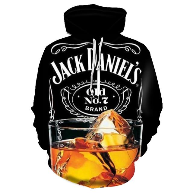 Black Whiskey Wine Men's Hoodie Men's Printed Hoodie Sweatshirts Casual LongSleeve Sport Harajuku Clothing 8