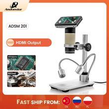 Andonstar ADSM201 HDMI çıkışı dijital mikroskop uzun nesne mesafesi Lens malzeme muayene, elektronik tamir