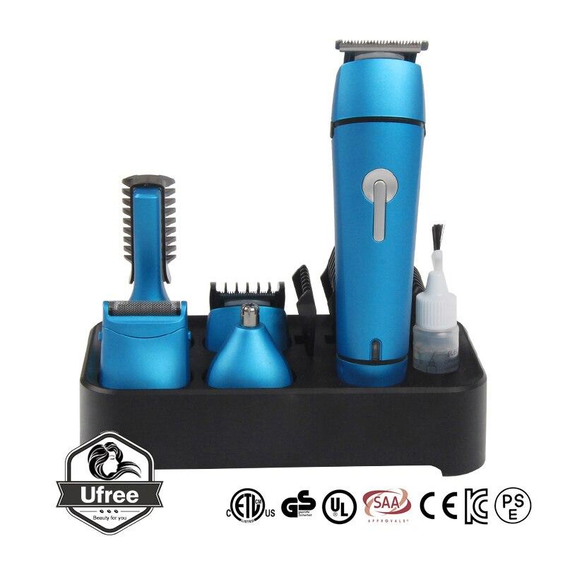 Машинка для стрижки волос для мужчин многофункциональная электрическая нажимная бритва, нос триммер для волос 2 часа полностью заряженная машинка для стрижки волос SU111 - Цвет: blue