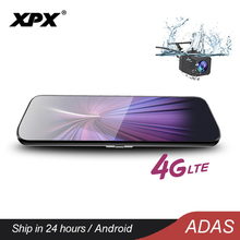 XPX Car DVR Mirror Dash Cam Rearview Android ADAS 4G Rear View Camera 9.8 inch OLED Screen 1080P WiFi GPS