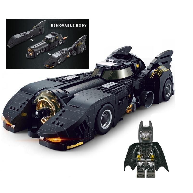 Новый DC фильм о супергероях lepinblock Бэтмобиль летучая мышь техника гоночный автомобиль Джокер Супер Герои Строительные блоки Кирпич детские