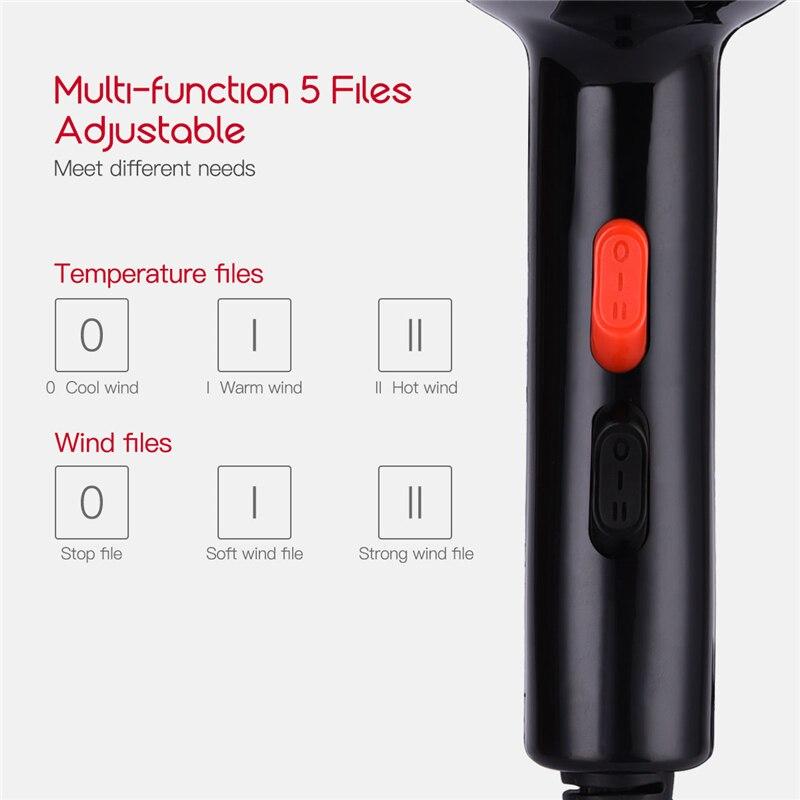 5000 w íon negativo secador de cabelo