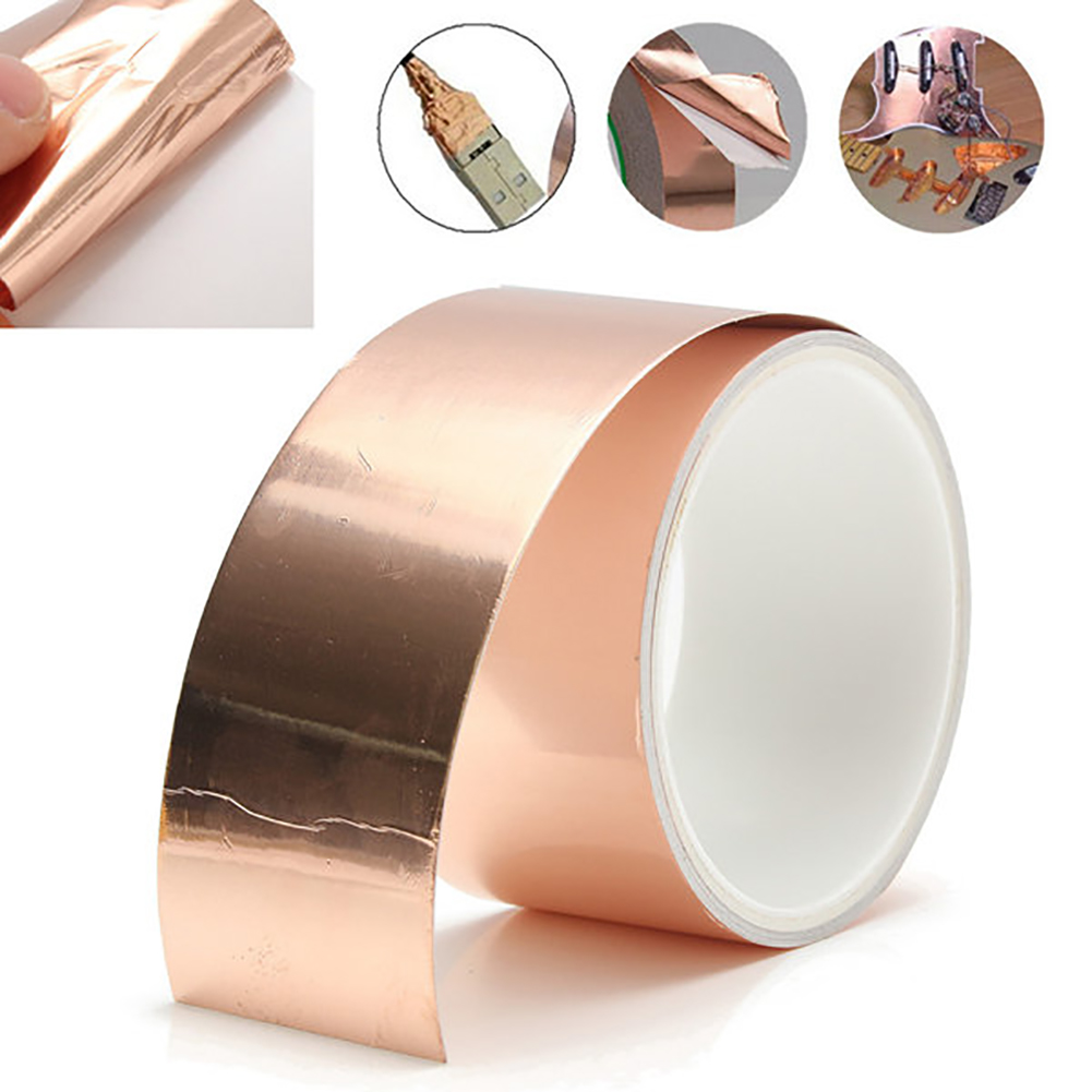 3m * 50mm Guitar Copper Foil Tape EMI Shielding Tape Protection Tape Repair Copper Wire On Printed Circuit Board Antistatic