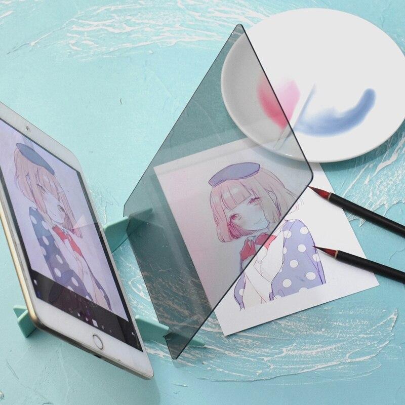 Детский светодиодный оптический проектор для рисования, распределительный щит, эскиз, зеркальное отражение, держатель кронштейна
