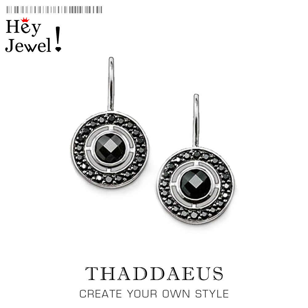 Round Drop Earrings from 925 Sterling Silver,Thomas Style Trendy Gift,Good Jewelry For Women,2017 Ts Gift In 925 Sterling Silver
