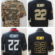 Football-Jersey American Men 22 Stitched Henry Derrick Customized Black Blue Best-Quality