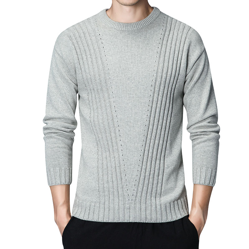 O-Neck Pull Homme Khaki Warm Pullover Sweaters Men Cotton Knitted Cashmere Coats Long Sleeve Mens Sweaters Dress Casual Clothes