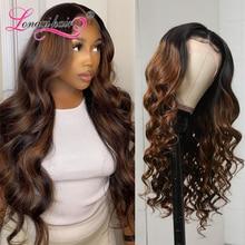 Волосы Longqi Hair13x4, волнистые волосы FB30, предварительно окрашенные человеческие волосы, парики 14-26 дюймов, бразильские волосы Remy, парик