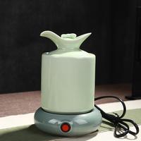 Warm wine ceramic hot hot pot warm white set home sake glass electric heating