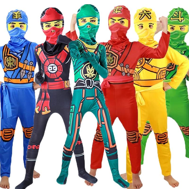 Ninjago Costume Boys Costumes Children Fancy Party Dress Up Carnival Halloween Costume for Kids Ninja Cosplay Superhero Jumpsuit 1
