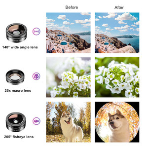 Image 4 - APEXEL Universal 6 in 1 Phone Camera Lens Kit Fish Eye Lens Wide Angle macro Lens CPL/StarND32 Filter for almost all smartphones