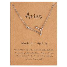 12 takımyıldızı kolye kristal yıldız zodyak işaretleri kolye gümüş renk klavikula zincir gerdanlık kolye doğum günü hediyesi kadınlar için