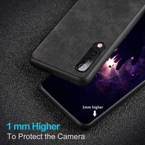 Image 5 - Mofi 샤오미 mi 9 프로 케이스 럭셔리 실리콘 백 커버 전화 케이스 mi 9 9 SE 실리콘 shockproof 청바지 PU 가죽