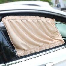 Aluminum Alloy 2pcs/Set Car Curtain Sun Visor Blinds Cover Car Side Window Sunshade Curtains Car styling Auto Windows Curtain