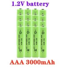 100% nova bateria 1.2v nimh aaa bateria 3000mah bateria recarregável ni-mh baterias aaa recarregável para brinquedo de controle remoto