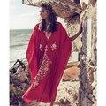 2021 быстросохнущие черный Инди народные вышитые длинное летнее пляжное платье кафтан размера плюс женская одежда макси платье N910