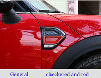car sided trim accessories For mini cooper countryman F60 RED black Checkered decoration