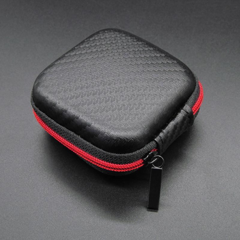 Portable Headphone Bag Mini Zipper Square Hard Storage Box Headset Case For SD TF Cards Aseismic Moisture Proof Earphone Bag