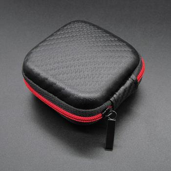 Portable Headphone Bag Mini Zipper Square Hard Storage Box Headset Case For SD TF Cards Aseismic Moisture Proof Earphone Bag original kz earphone case fiber zipper headphones hard case storage carrying pouch bag sd card box portable earphone bag